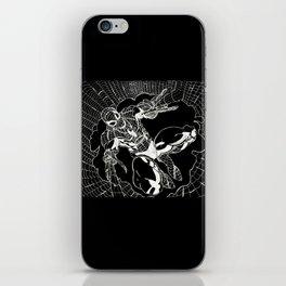 SPIDEY BLACK AND WHITE iPhone Skin