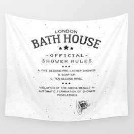 SHOWER RULES Wall Tapestry