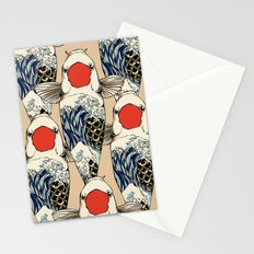 The Great Wave Of Koi Stationery Cards
