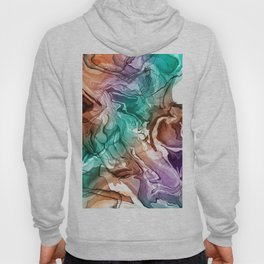 DIGITAL ALCOHOL INK ART 1 Hoody