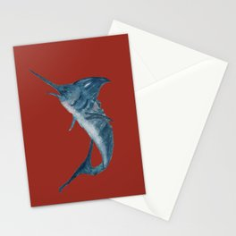 Blue Marlin Stationery Cards