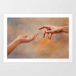 Touch me Art Print