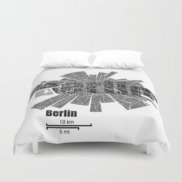 Berlin Map Duvet Cover