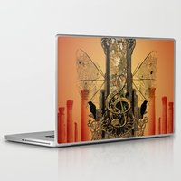 decorative Laptop & iPad Skins featuring Decorative clef by nicky2342
