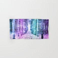 Magical Forest Lavender Aqua Teal Ombre Hand & Bath Towel