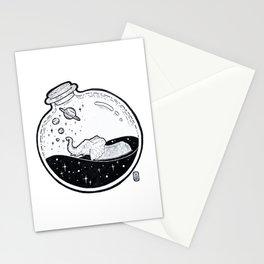 Elephant in Cosmic Bath Jar Stationery Cards
