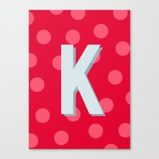 K is for Kindness Canvas Print