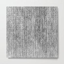 Ink Weaves: Grey Opal Metal Print