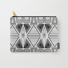"""Art Deco. """"Black and light gray"""" 28 . Carry-All Pouch"""