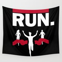 run Wall Tapestries featuring RUN. by Ionic Slasher