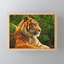 Gracious Fascinating Fearsome Beast Chilling Zoom UHD Framed Mini Art Print