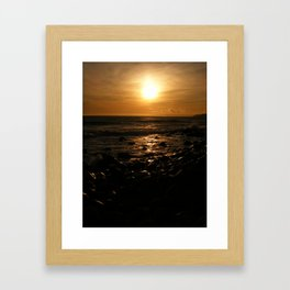 Spring Time Sunset Framed Art Print