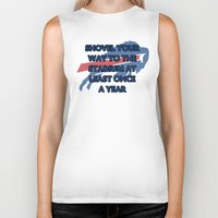 nfl Biker Tanks featuring NFL - Bills Shovel Your Way by Katieb1013
