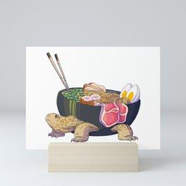 ramen turtle Mini Art Print