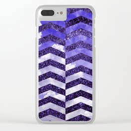 Cloudly Starry Sky -Purple Clear iPhone Case