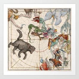 Vintage Star Atlas - Constellation Map Kunstdrucke