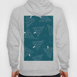 Christmas Trees Teal Hoody