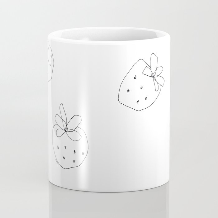Your Color no.2 - strawberry illustration fruit pattern Coffee Mug