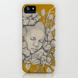 """""""Guardians"""" - Surreal Floral Portrait Illustration iPhone Case"""