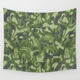 the PURRFECT camo with CATS Wall Tapestry