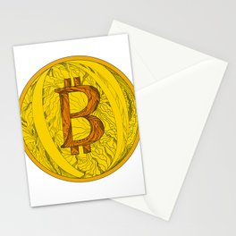 Bitcoin Doodle Art Stationery Cards