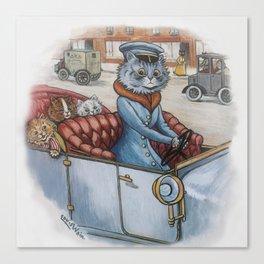 Louis Wain - The Cat Chauffeur Canvas Print
