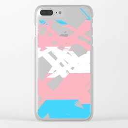 Transgender Tangle Clear iPhone Case