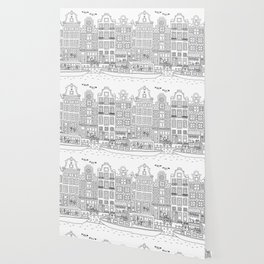 Amsterdam Line Art Wallpaper