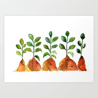 succulents Art Prints featuring Succulents by Gosia&Helena