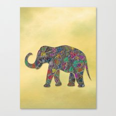 Animal Mosaic - The Elephant Canvas Print