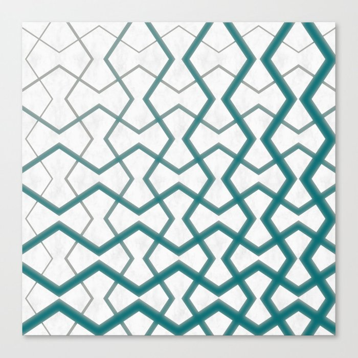 Biscay Bay Under Marble Tiles Canvas Print
