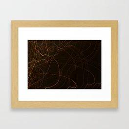 Stream The Lights Framed Art Print