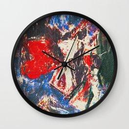 女性着物着て (woman wearing kimono) Wall Clock