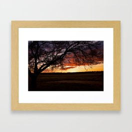 Watching the world go by Framed Art Print