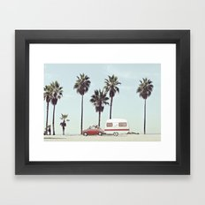 NEVER STOP EXPLORING - CAMPING PALM BEACH Framed Art Print