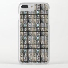 Hydro Pole Numbers Clear iPhone Case