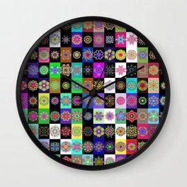 neon mandala lasoffittadiste Wall Clock