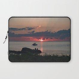 Sunset on the rocks Laptop Sleeve