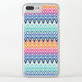 Zig zag Clear iPhone Case