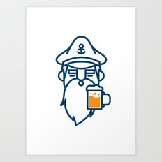 beard & beer  Art Print