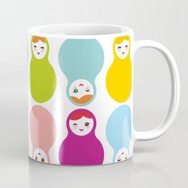 dolls matryoshka on white background Coffee Mug