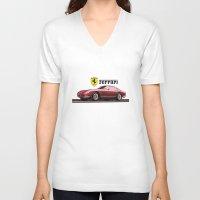 ferrari V-neck T-shirts featuring Ferrari 275  by YsfKara
