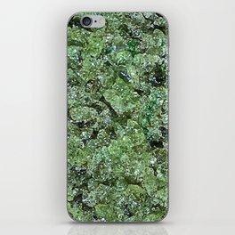 Raw Peridot iPhone Skin
