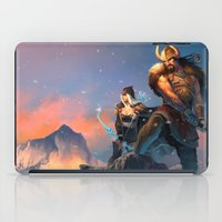 league of legends iPad Cases featuring League of Legends-Tryndamere and Ashe by RJ Palmer