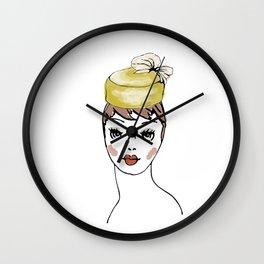 Pillbox Hat Wall Clock