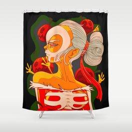 The Pumpkin Queen (Painting) Shower Curtain