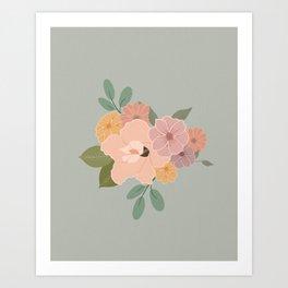 Floral Arrangements 1 Art Print