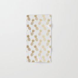 Gold Pineapple Pattern Hand & Bath Towel