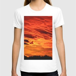 Flame Coloured Sunset Sky T-shirt