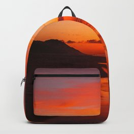 Sunset on the coast Backpack